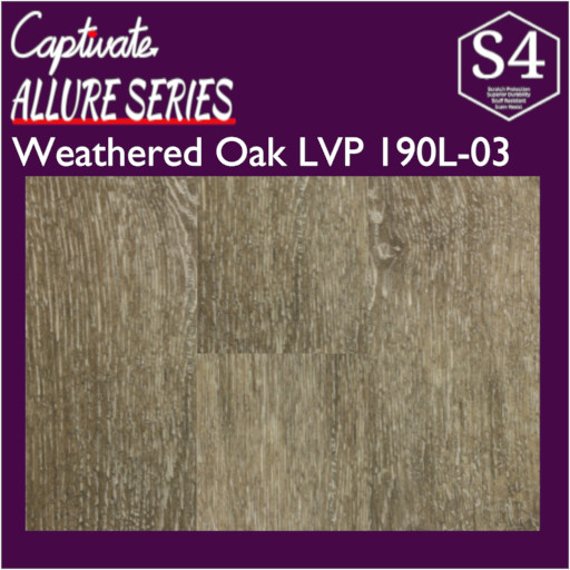 Weathered Oak Captivate LVP | $1.89/sq.ft.